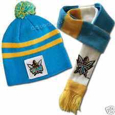 NRL Gold Coast Titans Baby Beanie Hat and Scarf Set