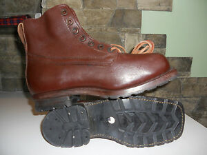 Swedish Army Work Combat Boots RETRO VINTAGE Brand New ORIGINAL GIFT, BROWN