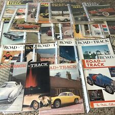 Road and Track magazine lot of 28 1950s vintage
