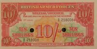 Great Britain British Armed Forces 10 Shillings P-M28 Military Currency 1956