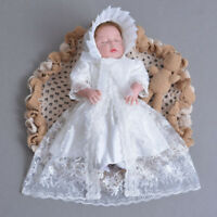 Newly Baby Girl Dress Vintage Christening Gown Newborn Sweet Lace Baptism Tutu