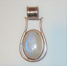 Big Opal Stone Artisan Pendant Necklace South Western Horse Shoe Cabochon Unisex