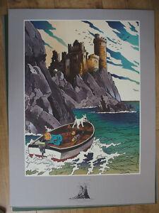 Lot de 2 affiches/sérigraphies Tintin - Pastiches de l'Île Noire par Somon neuf