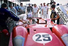 1969 SEBRING 12 HOURS FERRARI 312P MARIO ANDRETTI CHRIS AMON PIT STOP 2ND IMSA