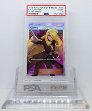 Pokemon ULTRA PRISM CYNTHIA #148 FULL ART HOLO FOIL TRAINER CARD PSA 9 MINT #*