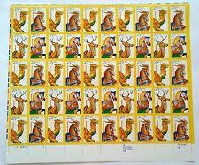 Scott #2390-2393 Carousel Animals~Full Sheet 50 25c Stamps~MNH OG