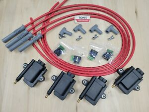 IGN Smart coil IGTB high output & MSD spark plug wires Mazda 13B rotary kit 180*