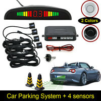 Car Parking Rear Reverse 4 Sensors Kit Buzzer Radar LED Display Kit Alarm System