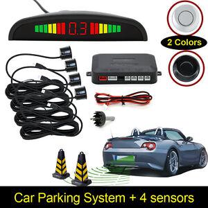 Reversing Parking Radar Sensor Car 4 Sensors Audio Buzzer Sound Alarm Kit