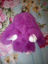 Purple Fluffy Rabbit Toy Key Ring super soft