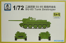 Su-85 Tank destroyer , 1/72, S-Model ,Double pack 2 Models, Plastik, NEU