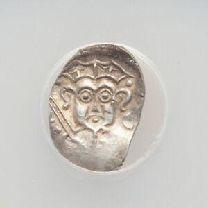 Russian XVth century Silver Coin. Duke Dovmont. RARE! ANACS EF45