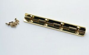 GOLD PLATED SMALL PIANO HINGE (90° stop) - *Improved Spec* PROKRAFT  PGSH 100