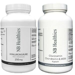 GELENK + RÜCKEN SET 120 Kapseln Hyaluron 500mg + 180 Kapseln Glucosamin 400mg