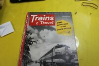 Trains & Travel Vintage Railroad Magazine March 1952 complete, very good