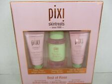 PIXI SKIN TREATS BEST OF ROSE 3 PIECE SET - CLEANSER, TONER, & BOOSTER BB 1646