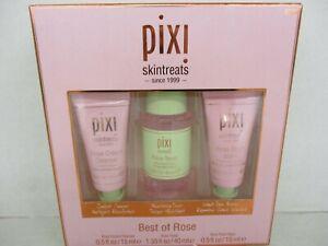 PIXI SKIN TREATS BEST OF ROSE 3 PIECE SET / CLEANSER, TONER, & BOOSTER  BB 1646