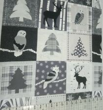 WINTER TIME CHRISTMAS  PANEL   PREMIUM  100%  COTTON   CRAFT QUILTS  ONLY £ 5.95