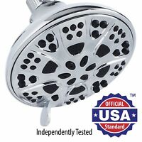 AquaDance® High Pressure 5-Inch Shower Head with 6-Settings, Chrome Finish