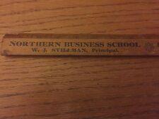Vintage Watertown NY Advertising Ruler, Northern Business School, W. J. Stillman