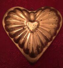 Valentine Copper Heart Jello Mold Pan USED