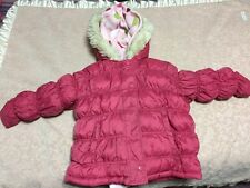 Gymboree gingerbread girl xs 3-4 pink 3 in 1 winter coat