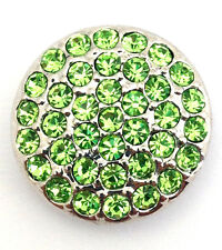 Ginger Snaps Ritzy Peridot Snap, Light Green Stones, SN06-07, New
