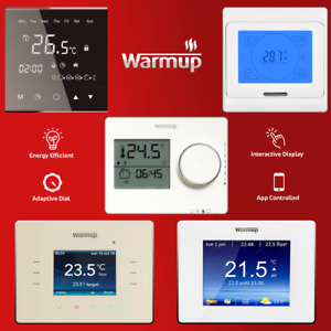 WarmUp Thermostat - Digital Interactive Touch Display, Smart WiFi or Manual Dial