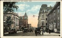 New London CT State St. East c1920 Postcard