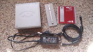 LaCie 300790U 250GB external backup Hard Drive, USB 2, Firewire 1394 FW400 FW800