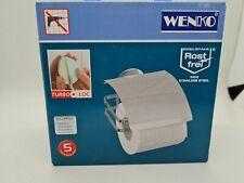 Wenko Toilettenpapierhalter  Klorollenhalter  Edelstahl mit Deckel ! B-Ware !