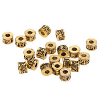 20 Pcs 6mm Tibetan Alloy Loose Spacers Beads for Making Bracelet Necklaces