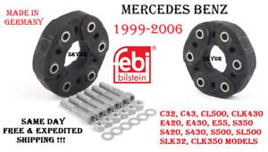 Mercedes Drive Shaft Flex Joint Disc Kit For 99-06 W140 W220 W210 C215 R129 Febi