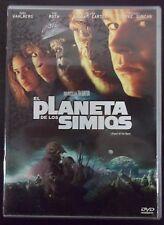 2 DVD El Planeta de los Simios. Tim Burton Mark Wahlberg,Tim Roth