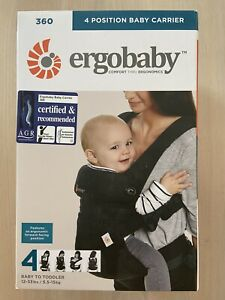 Ergobaby 360 4 Position Baby Carrier Pure Black - Excellent Condition