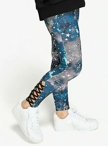 NEW Justice X Collection Night Sky Galaxy Athletic Leggings 7 8 10 14 16 18 22