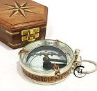 Vintage Transparent Glass Compass Backpack Traveling Tool Navigation Compas