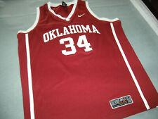 OKLAHOMA SOONERS OU BASKETBALL JERSEY #34 XL