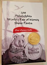 2018 China Philadelphia Worlds Fair of Money Show Panda 1 OZ Gold Proof Medal