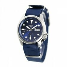 New SEIKO 5 SRPE63K1 Automatic Nylon Band 40mm Navy Dial 24 jewels