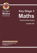 KS3 Maths Practice Papers - Levels 5-8: Levels 5-8 (Bookshop), Very Good Conditi