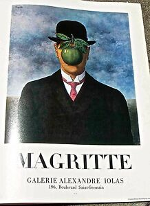 Rene Magritte Poster Reprint for Galerie Alexandre Iolas Show 16x11 pp