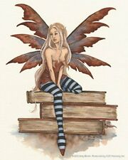Amy Brown Sticker Decal Fairy Book Faery Library Worm Nerd Bookworm Reading New