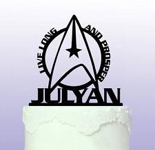 Personnalisé de star trek cake topper-vulcan spock