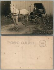 HORSE DRAWN COACH ANTIQUE REAL PHOTO POSTCARD RPPC
