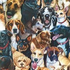 WHISKERS & TAILS DOGS HUSKIES GERMAN SHEPERDS KELPIES CHIHUAHUA SHIH TZU FABRIC