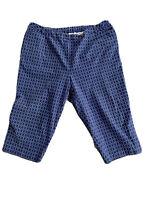 Talbots Blue Circle Print Stretch Capri Pants Plus Size 22W