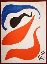Calder 2 Lithographies 1975 Art Abstrait Abstraction lyrique Maeght Zurich art