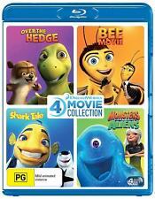 Dreamworks 4 Film Blu-ray Over The Hedge Bee Movie Shark Tale Monsters VS Aliens