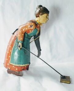 "Rare Distler Günthermann ""Busy Lizzie"" Tin Litho Toy, Germany c1920s"